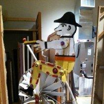 Image of Man on Bicycle Wind Machine, by Vollis Simpson