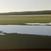Image of Painting - Jacob Cooley is an Austrailan born artist. He received an MFA in painting from University of North Carolina at Chapel Hill in 1993. Previously in 1990, he graduated with a BFA from University of Georgia, Athens. Currently lives and works in North Carolina. Landscape of the NC intercoastal waterway.