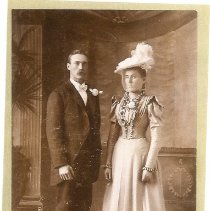 Image of wedding portrait (scanned)