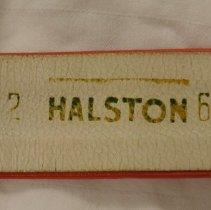 Image of label on belt