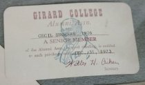 Image of Card, Membership - The Girard College Legacy Collection