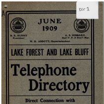 Image of Year 1917 - Highland Park-Lake Forest Telephone Directory June 1917