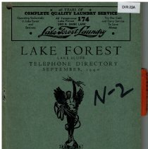 Image of Year 1947 - Lake Forest Lake Bluff Telephone Directory June 1947