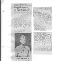 Image of Newspaper article on Northrup pg. 10