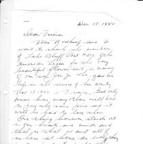 Image of Thank you letter from Mr / Mrs. Northrop pg. 9
