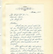 Image of World War ll Letters from servicemen to American Legion Post 510 thanking them for Christmas gifts.