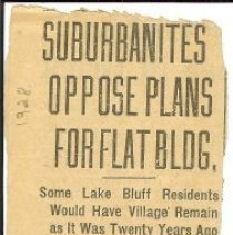 Image of Suburbanites oppose plans for flat building -