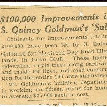 Image of $100,000 Improvements in S. Quincy Goldman's 'Sub' -