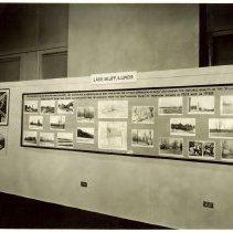 Image of View of the display board - A display board showing photos comparing Lake Bluff scenes 1938 to 1923.