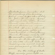 Image of A handwritten history of Lake Bluff at the time of the Illinois Centennial, 1918. Written as a part of a county wide centennial program,  the history was researched by the 7th and 8th grade classes of the Lake Bluff School.  Some photographs are included.