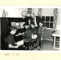 Image of Robert Petracek - Robert V. Petracek with L-R, Unkown, Raymond Sota, Unknown & Unknown,