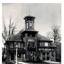 Image of Village Hall - Photograph from the Chicago Tribune of the Village Hall taken at the time of the Furnace Mystery.