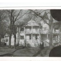Image of Two photos of the Beall - Honeywell home at 456 Sunrise in the mid 1950s. (First photo South side of the house ?) (Second photo front of the house)