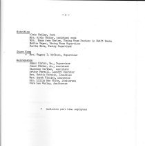 Image of Folder, File                                                                                                                                                                                                                                                   - Excerpt from April 1948 report listing  staff