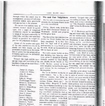 Image of Photocopy of undated article in the 'Lake Bluff Chat' on William Henderson and Alice Corbin.