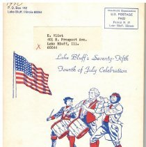 Image of Lake Bluff's Seventy-Fifth Fourth of July Celebration - Program for the 1970 Fourth of July Celebration.  52 pages, staple bound.