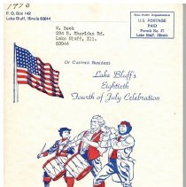 Image of Lake Bluff's Eightieth Fourth of July Celebration - Program for the 1975 Fourth of July Celebration.  64 pages, staple bound.