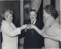 Image of Governor and Mrs. Castro of Arizona and Mrs. Wagner offer a toast