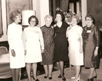 Image of First Lady Pat Nixon, Mrs. Robert Dodd, and Gladys Haugan with GFWC staff