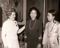 Image of Mary Katharine Miller with Mrs. Le Van Khoa and Mrs. Kim Cook