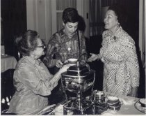 Image of Betty Christopher, Mde. Claudine Gugenheim, and Margaret Hasebroock