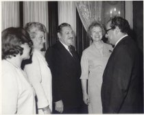 Image of Governor and Mrs. Raul Castro and Jerri Wagner greet guests