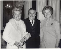 Image of Mrs. Castro (L), Governor Castro, (C) and Mrs. Wagner (R)