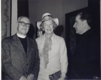 Image of Dr. and Mrs. Edward L. R. Elson, Msgr. W. Louis Quinn