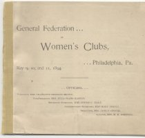 Image of CON 1894.05 - Convention and Meeting Records