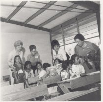 Image of GFWC tour members visiting rural school in El Ocote, Mexico