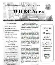 Image of WHN 2008.04 - Women's History and Resource Center Newsletters