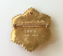 Image of back, GFWC International President Mary Katherine Miller's president pin