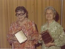 Image of Honorary President and GFWC Consultant Mildred Ahlgren and unidentified wom