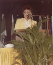 Image of Honorary President Mary Elizabeth Sewards Quint addresses the delegates.