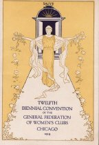 Image of Cover, Twelfth Biennial Convention program , Chicago, IL. 1914