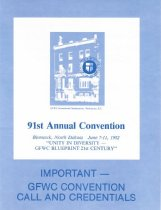 Image of Call, ninty-first annual convention, 1982