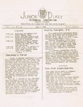Image of Front page, Junior Convention newsletter, 1935
