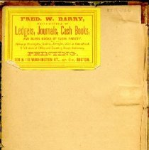 Image of Diary of George H. Lang, front inside cover, Vol. 1