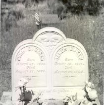 Image of Cemetery Tombstone with Bakers