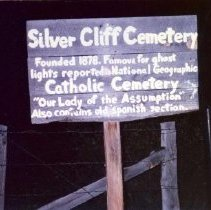 Image of Silver Cliff Cemetery Sign