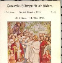 Image of 1916 German lithograph post ca