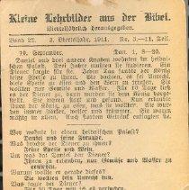 Image of back of 1911 German post card