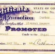 Image of Certificate of Promotion 1946