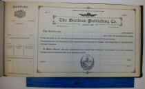 Image of Brethren Publishing Company stock certificate sample 1932