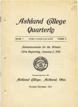 Image of 10-17Catalog1912 - Ashland College Quarterly Announcements for the Winter Term Beginning January 2, 1912