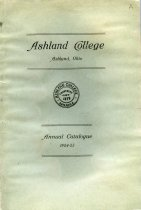 Image of 10-17Catalog1924 - Ashland Colllege Ashland, Ohio Annual Catalogue 1924-1925