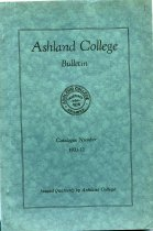 Image of 10-17Catalog1931 - Ashland College Bulletin Catalogue Number 1931-1932