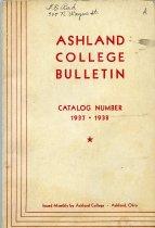Image of 10-17Catalog1937 - Ashland College Bulletin Annual Catalog 1937-1938
