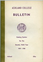 Image of 10-17Catalog1957 - Ashland College Bulletin Annual Catalog 1957-1958