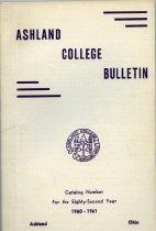 Image of 10-17Catalog1960 - Ashland College Bulletin Annual Catalog 1960-1961